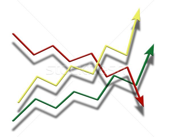 серый градиент диаграмма форме Стрелки Сток-фото © mizar_21984