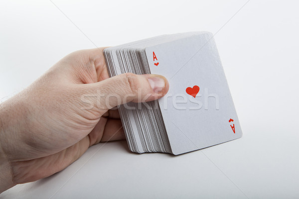 人の手 エース 心 デッキ カード ストックフォト © mizar_21984