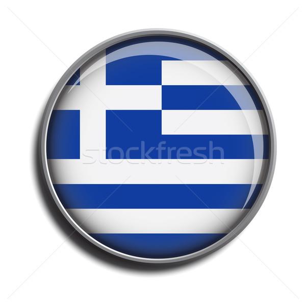 フラグ アイコン webボタン ギリシャ 孤立した 白 ストックフォト © mizar_21984