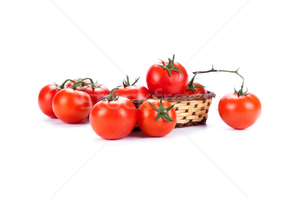 赤 トマト 小 バスケット 白 背景 ストックフォト © mizar_21984