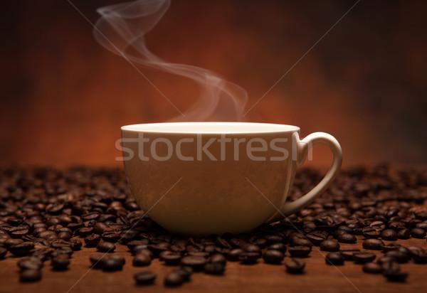 Koffie stilleven beker rook voedsel keuken Stockfoto © mizar_21984