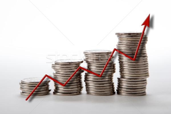 Monedas diagrama negocios mercado Trabajo Foto stock © mizar_21984