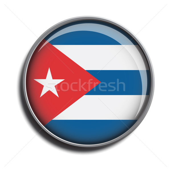 flag icon web button cuba Stock photo © mizar_21984