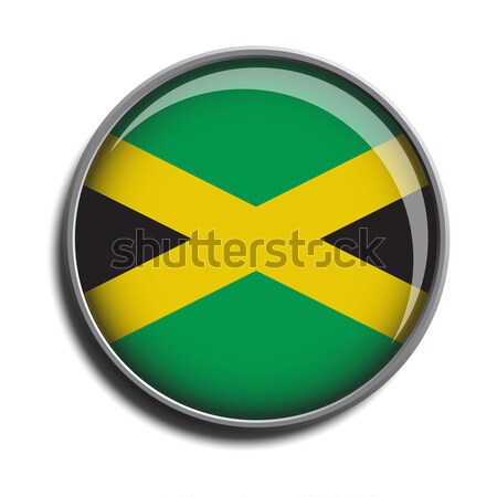 flag icon web button jamaica Stock photo © mizar_21984