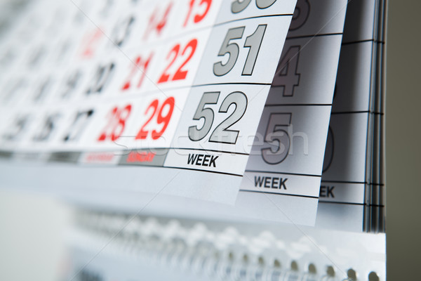 wall calendar calendar with the number of days Stock photo © mizar_21984