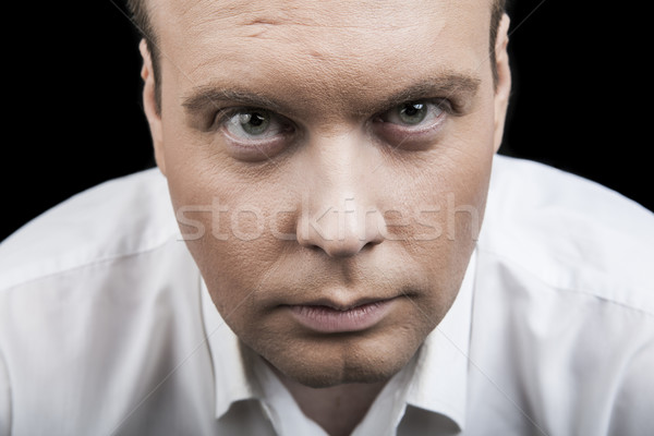 man looking intently into the eyes Stock photo © mizar_21984