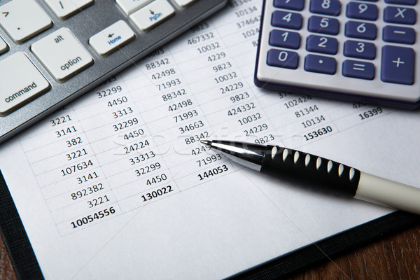 business still life with accounting Stock photo © mizar_21984