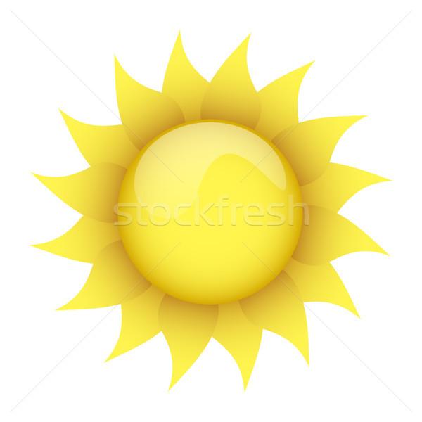 yellow sun on a white background Stock photo © mizar_21984