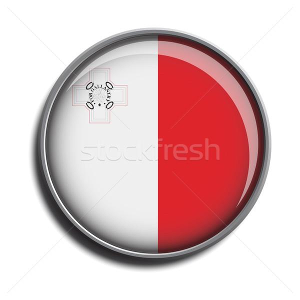 フラグ アイコン webボタン マルタ 孤立した 白 ストックフォト © mizar_21984