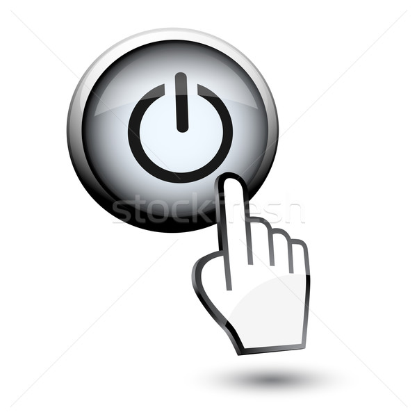 button switch off on and hand cursor Stock photo © mizar_21984