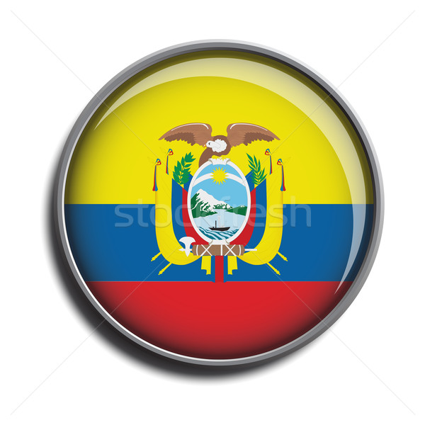 flag icon web button ecuador Stock photo © mizar_21984