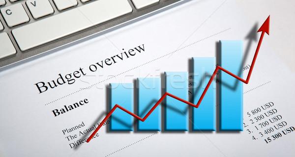 Mesa ganancias dígitos calculadora diagrama Foto stock © mizar_21984
