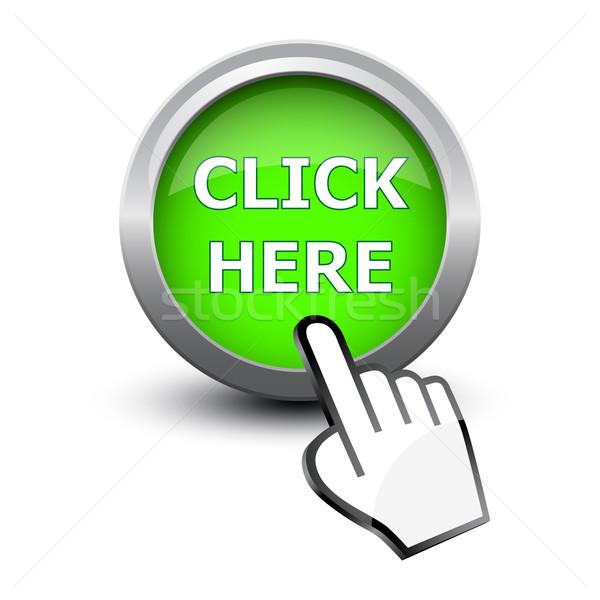 Strony kursor przycisk kliknij tutaj komputera fali Zdjęcia stock © mizar_21984