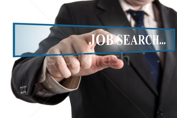 man's hand clicks on the address bar job search Stock photo © mizar_21984