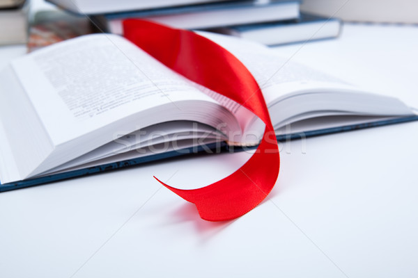 open book whith red bookmark Stock photo © mizar_21984