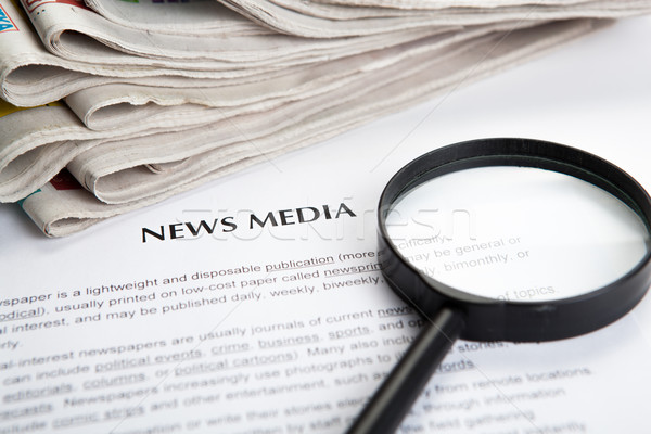 document with the title of news media Stock photo © mizar_21984