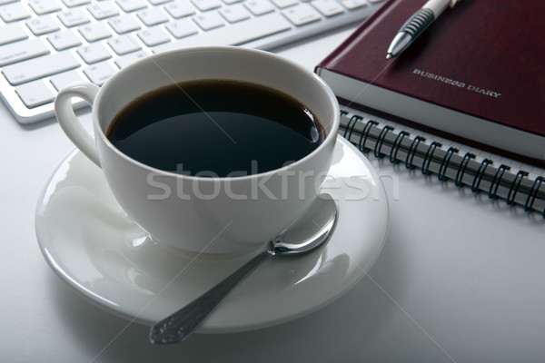 coffee breakfast at the workplace Stock photo © mizar_21984