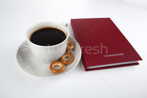 business diary with cup of coffee 2 Stock photo © mizar_21984