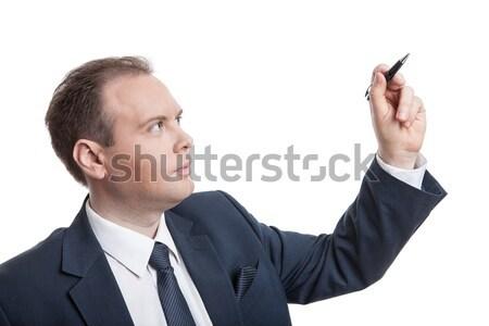 Portrait of businessman writes Stock photo © mizar_21984