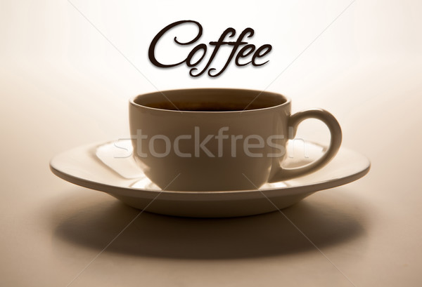 glass cup and title coffee Stock photo © mizar_21984