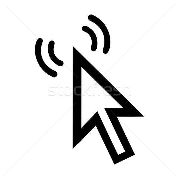 Imleç ikon dalgalar beyaz Internet ok Stok fotoğraf © mizar_21984