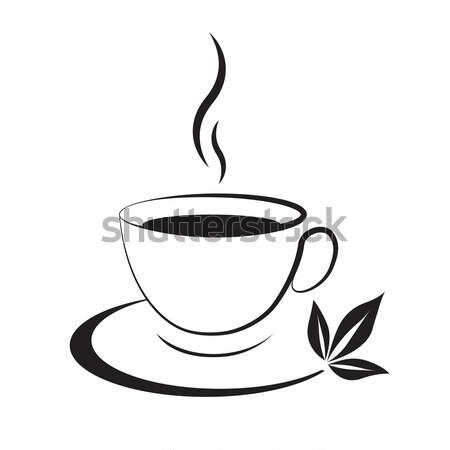 hot coffee cup icon Stock photo © mizar_21984