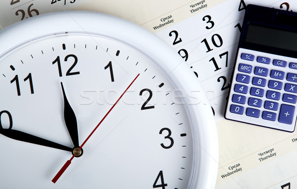 business stil life with clockface Stock photo © mizar_21984