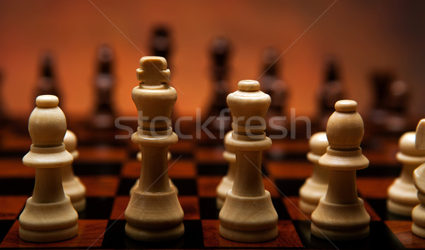chess game with pieces on the board Stock photo © mizar_21984