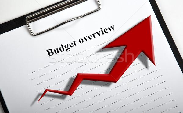 Foto stock: Documento · título · presupuesto · diagrama · negocios