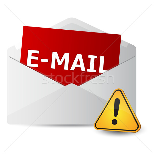 icon message 2d with exclamation sign Stock photo © mizar_21984