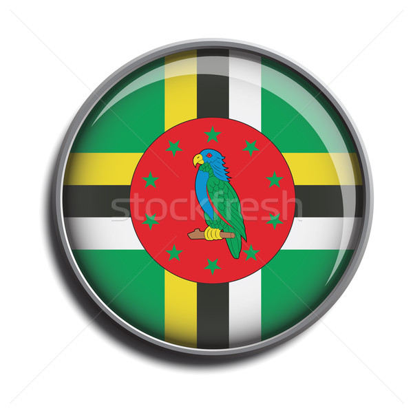 Vlag icon Dominica geïsoleerd witte Stockfoto © mizar_21984