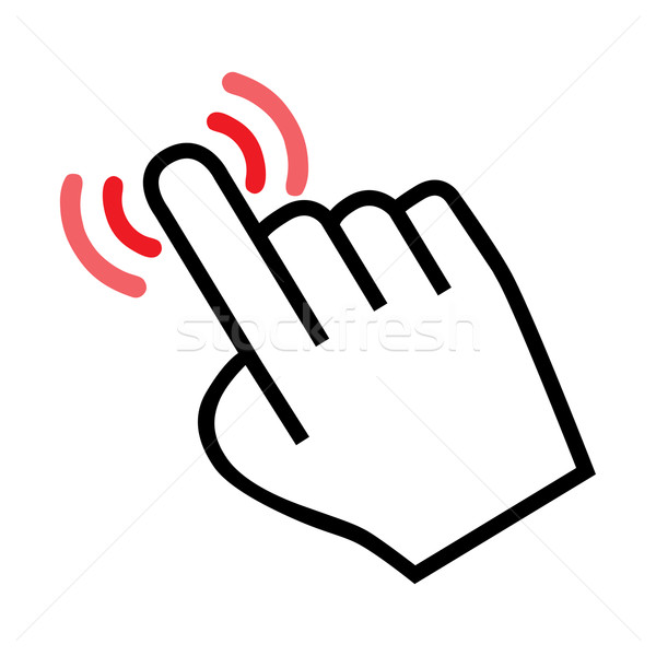 cursor hand icon Stock photo © mizar_21984