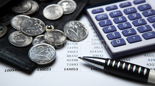 Accounting and Russian money Stock photo © mizar_21984