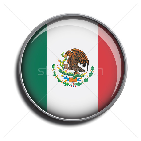 flag icon web button mexico Stock photo © mizar_21984