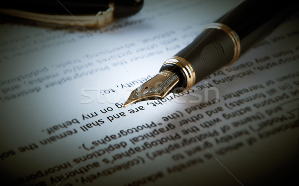 fountain pen on text sheet paper 2 Stock photo © mizar_21984