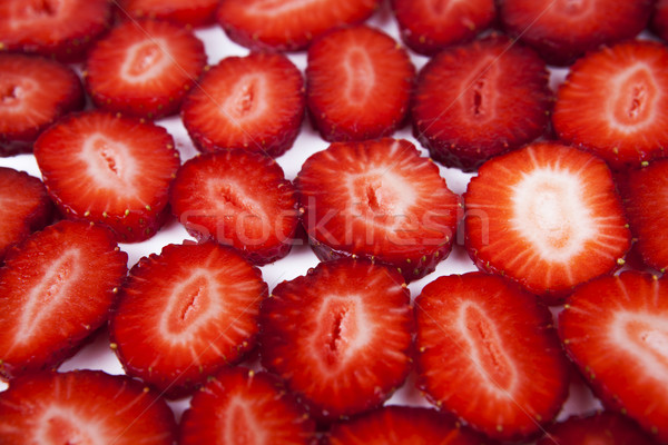 background a strawberry slices Stock photo © mizar_21984