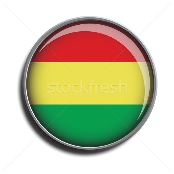 flag icon web button bolivia Stock photo © mizar_21984