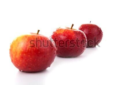 Rosso mele primo piano bianco mela dessert Foto d'archivio © mizar_21984