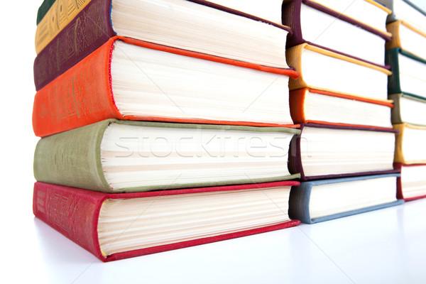Stockfoto: Boeken · witte · business · kunst · Rood