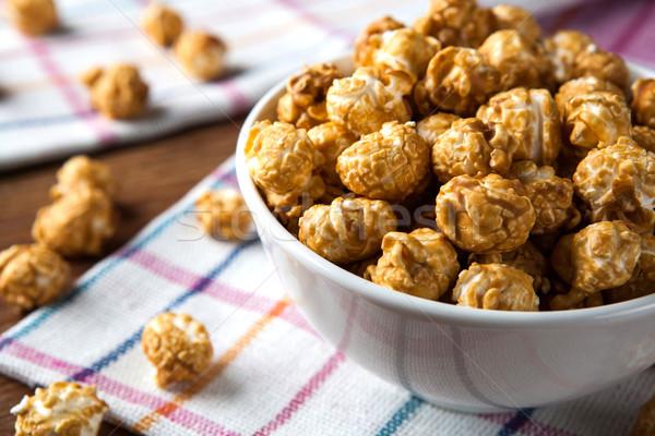 Dourado caramelo milho sobremesa cozinhar Foto stock © mizar_21984