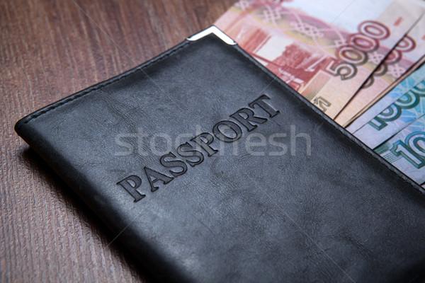 Pasaport tablo kâğıt para seyahat Stok fotoğraf © mizar_21984