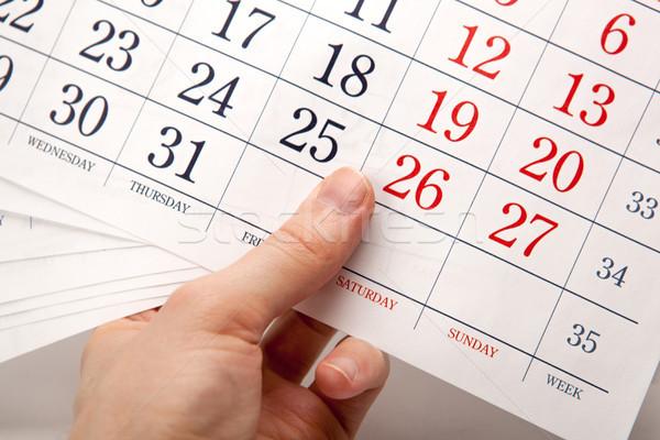 Calendário mão negócio reunião Foto stock © mizar_21984