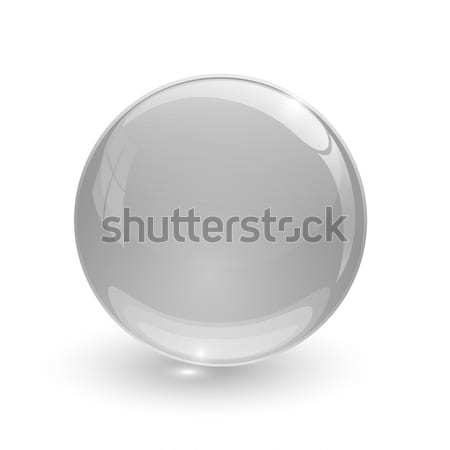 Grey glassy ball Stock photo © mizar_21984