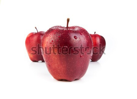 Gesztenyebarna almák közelkép fehér gyümölcs desszert Stock fotó © mizar_21984