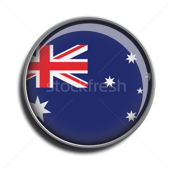 フラグ アイコン webボタン オーストラリア 孤立した 白 ストックフォト © mizar_21984