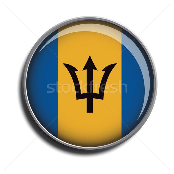 flag icon web button barbados Stock photo © mizar_21984