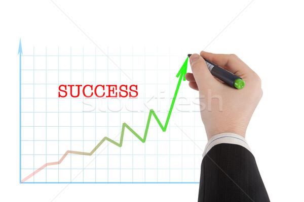 диаграмма слово успех человек написать краской Сток-фото © mizar_21984