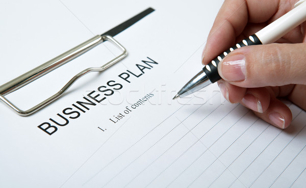 Empresário fora plano homem caneta Foto stock © mizar_21984