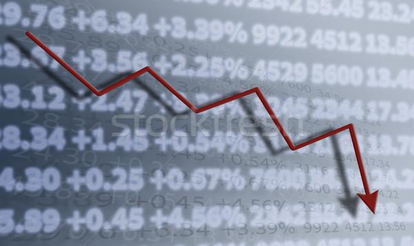 Tabela números dígitos diagrama mercado Foto stock © mizar_21984