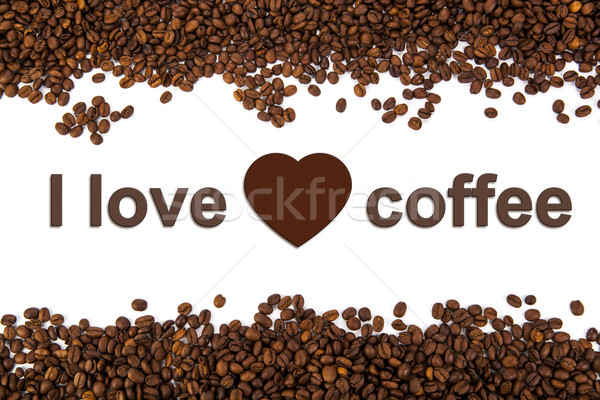 a lot of roasted coffee beans Stock photo © mizar_21984